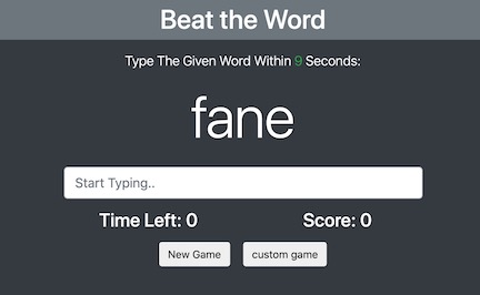 Beat the Word (Typing Game)